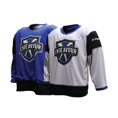 Custom reversible hockey jersey for Endeavour Sports Group.