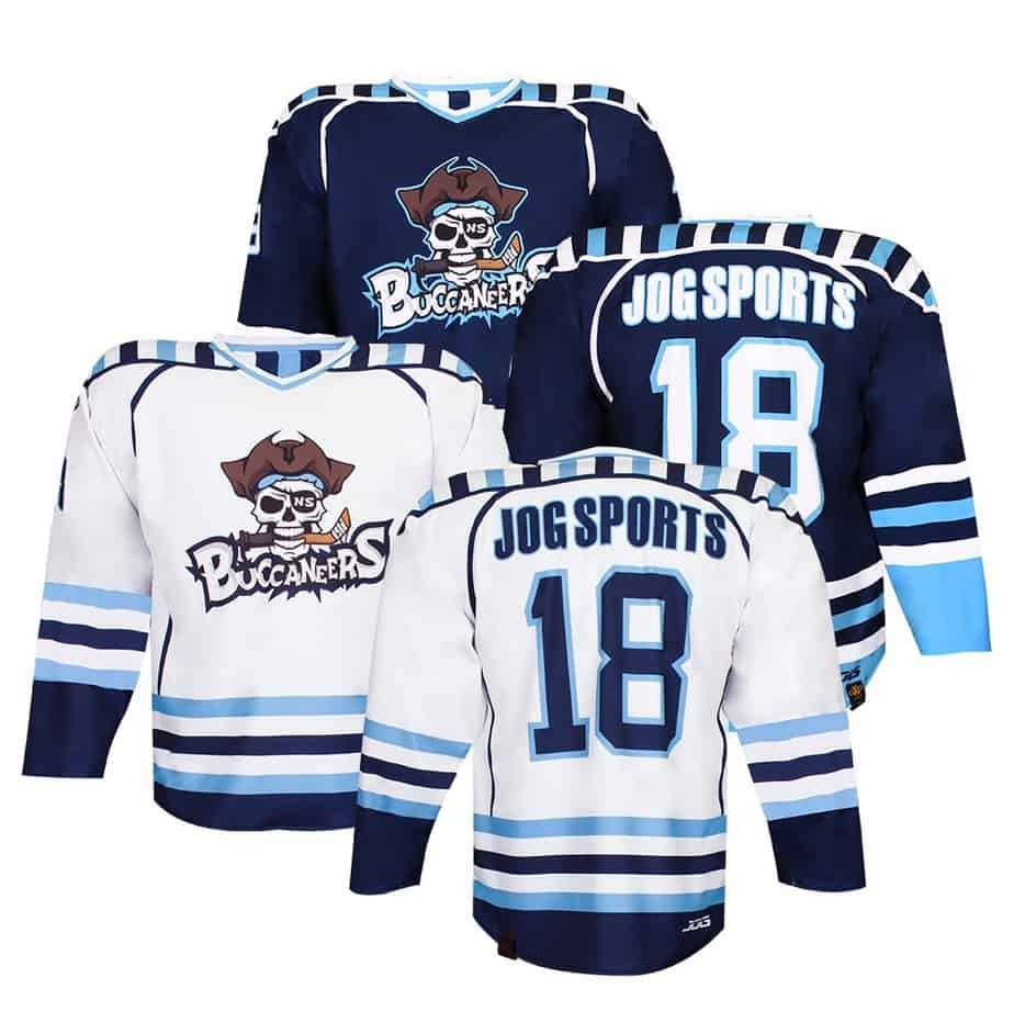 Custom sublimation reversible hockey jersey. Two jerseys in one.