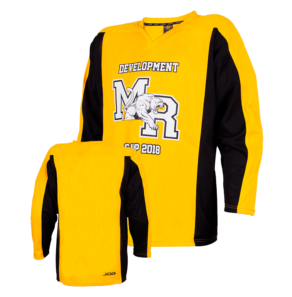 Custom two color hockey practice jersey.
