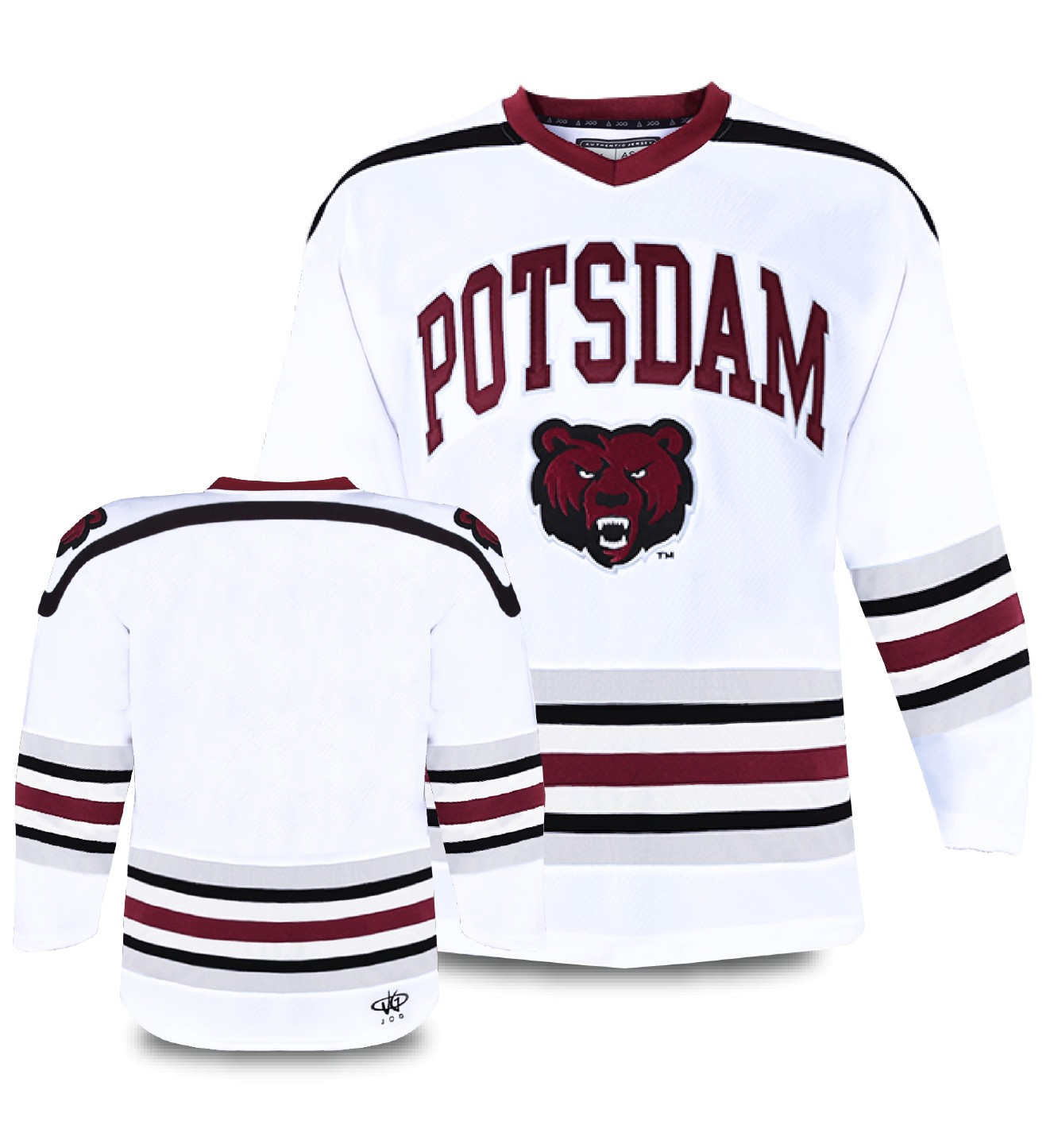 Custom hockey jersey for the men's and women's ice hockey teams. NHL jersey quality ice hockey jersey.