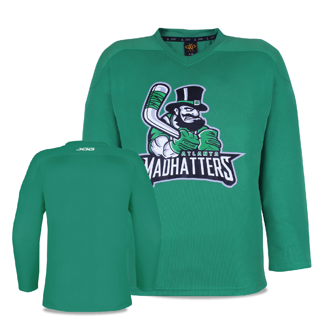 Madhatters custom practice jerseys with screen printed front logo.