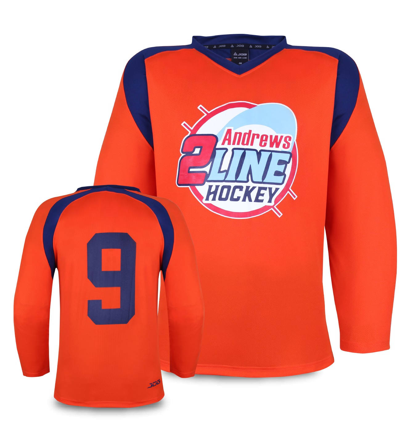 Custom hockey practice jersey for Andrews Hockey.