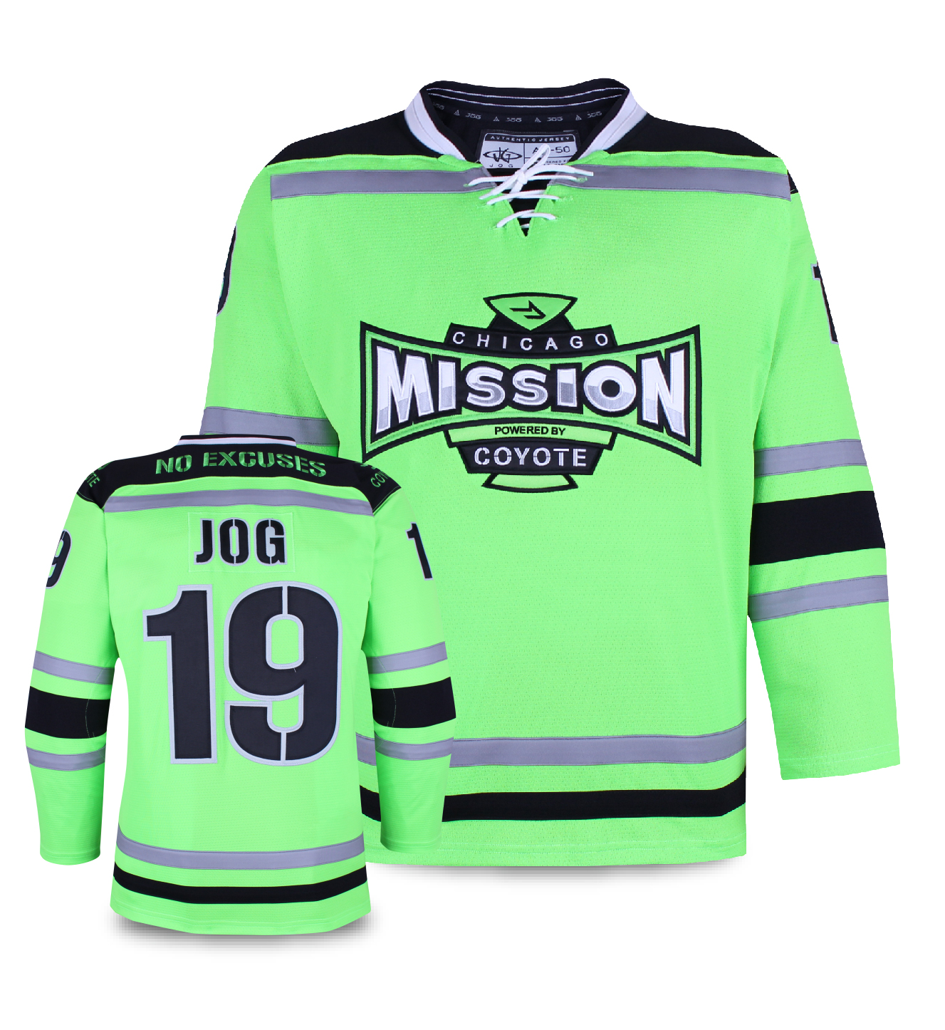 Chicago Mission custom hockey jersey for the men's ice hockey and women's ice hockey teams. NHL jersey quality ice hockey jersey.