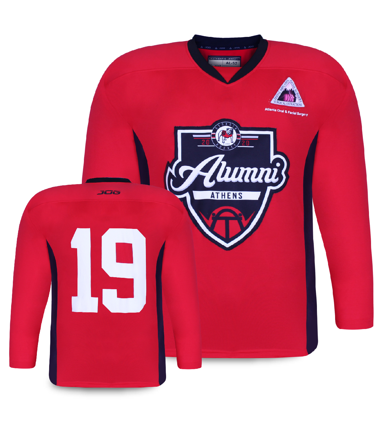 Custom hockey practice jersey.